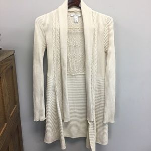 WHBM | Ribbed Cable Knit Cardigan Sweater | XS
